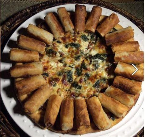 Lumpia Pizza Forget The Pizza Hut Hotdog Pizza Here S The Lumpia Pizza