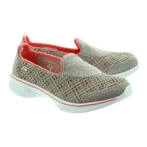 on shoes skechers 14145 slip on shoes in taupe coral in tpcl