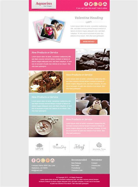 valentine email marketing newsletter template
