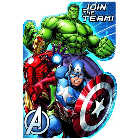 marvel woh card template invitations big w