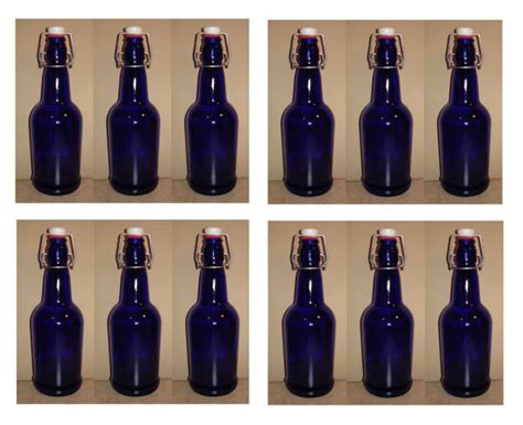 blue swing top bottles new blue glass swing top bottles case of 12 16z ez cap
