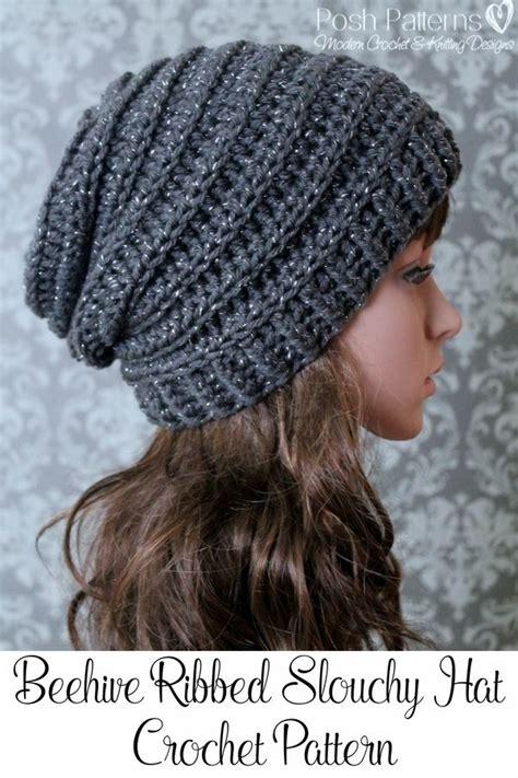 pattern crochet ribbed hat crochet pattern easy crochet pattern crochet slouchy