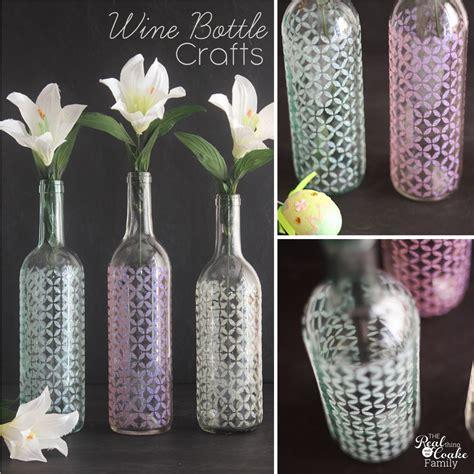Decorating Vases With Glitter Wine Bottle Crafts Make Spring Vases