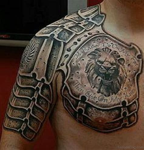 gladiator armor tattoo 55 great armor tattoos for chest
