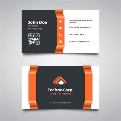 free orange travel business card templates orange corporate business card template vector free
