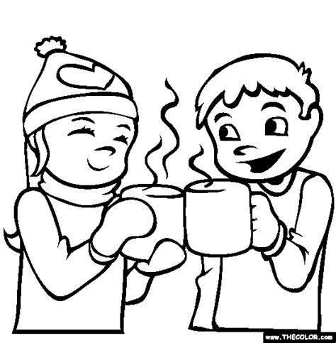 hot chocolate coloring page free hot chocolate online