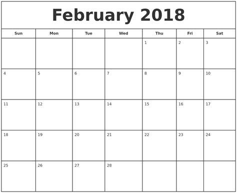 Calendar February 2018 April 2018 Calendar Maker