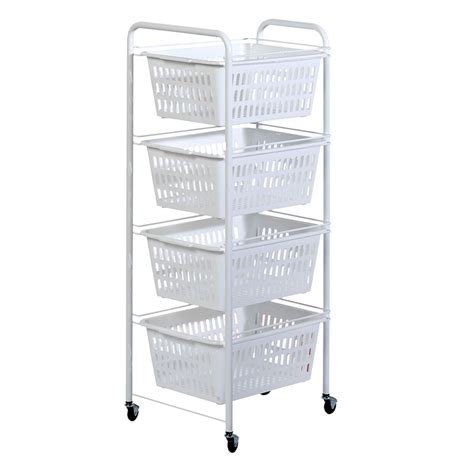 Bathroom Trolley With Drawers by Portable 4 Drawer Storage Trolley Kitchen Bathroom Bedroom