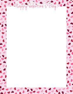 free printable valentine stationary borders happy valentine s day border frames pinterest