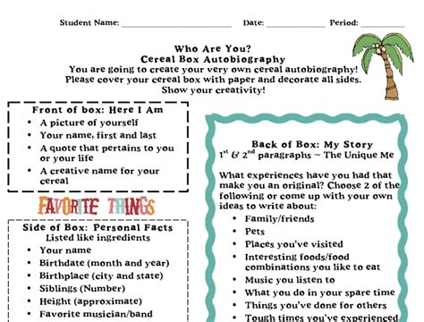 biography exle year 5 simply 2nd resources freebie 2nd reading writing