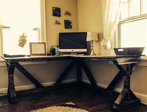 antique white corner desk diy corner desk using ana white fancy x desk plan