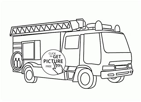 firetruck coloring page truck with ladder coloring page for