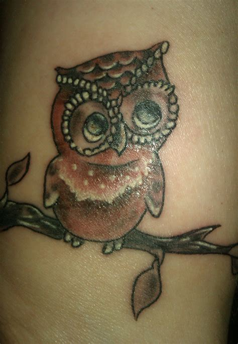 vintage owl tattoo tattoos pinterest