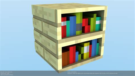 minecraft bookshelf model by craftdanimation on deviantart