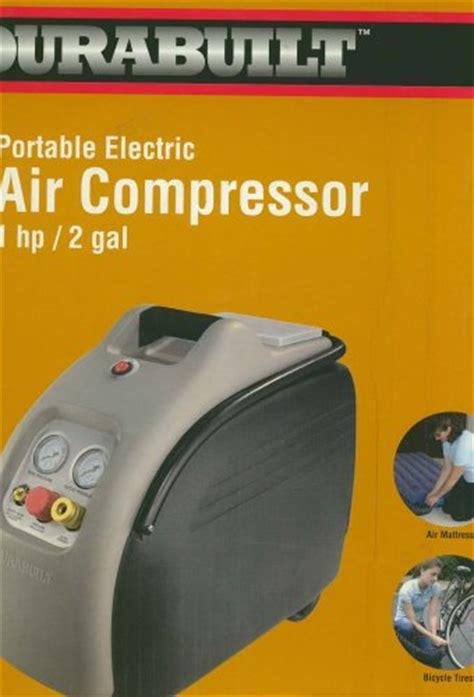 low price durabuilt portable air compressor 1 hp 2 gal reviews air compressors reviews