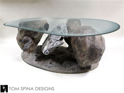 Terrarium Coffee Table millennium falcon asteroid chase coffee table never tell