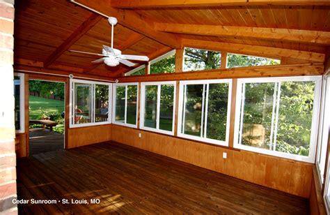 Cedar Sunroom porches sunrooms