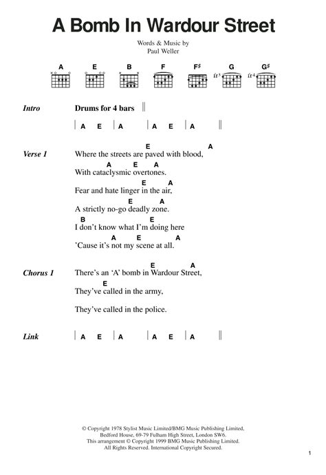 printable lyrics to jingle bombs a bomb in wardour street sheet music direct