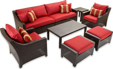 ottoman with seating cantina 7 piece sofa seating set with chairs ottomans