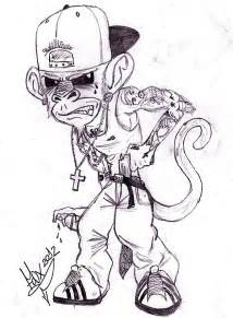 Galerry pencil drawing art sketches cartoon gangstters
