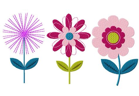 design in flower flower three pack machine embroidery designs for gold