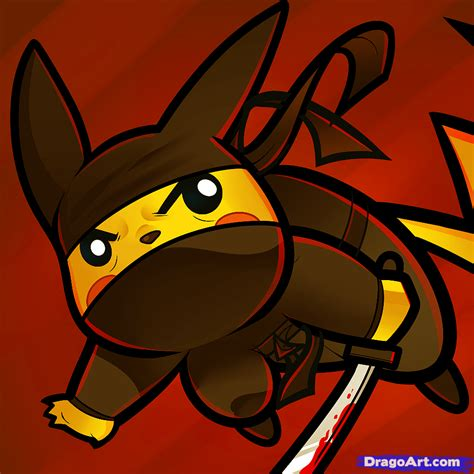 ninja pikachu coloring page how to draw ninja pikachu ninja pikachu step by step