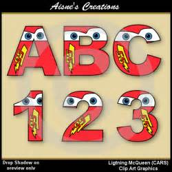 Lightning Mcqueen Car Number Lightning Mcqueen Cars Alphabet Letters Numbers Clip