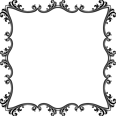 Flourish Frame Outline by Free Vector Graphic Flourish Floral Decorative Free Image On Pixabay 2031230