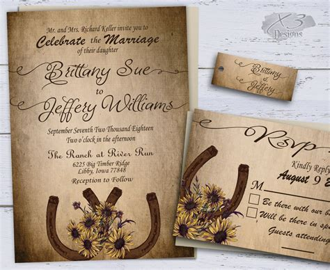 Wedding Party with Rustic Country Wedding Invitations