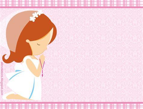 invitacion de primera comunion dibujo invitaci 243 n primera comuni 243 n ni 241 a all invitations