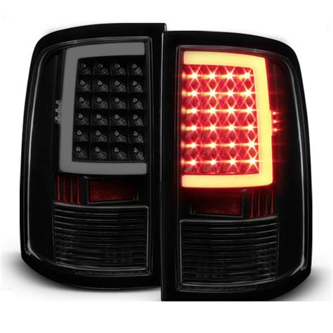 09 17 Dodge Ram 1500 2500 3500 Led Tail Lights Black Smoked