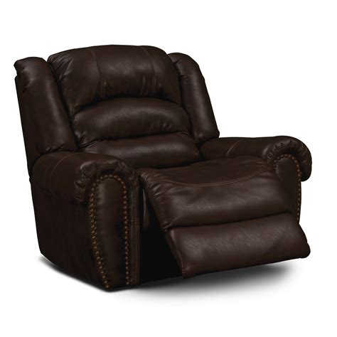 Rocking Leather Recliners by Galveston Leather Rocker Recliner Value City Furniture