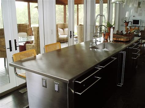 kitchen island steel stainless steel countertop custom