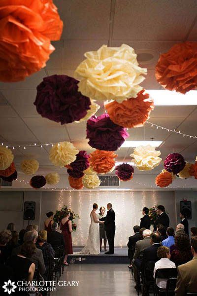 How To Make Tissue Paper Balls For Wedding - burgundy orange fall wedding paper tissue