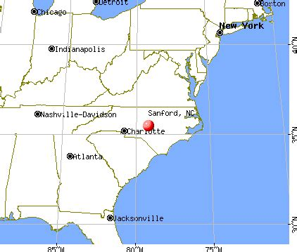 sanford carolina map sanford carolina nc 27332 profile population