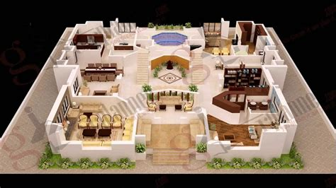 4 Bedroom House Plans by 4 Bedroom House Plans 3d