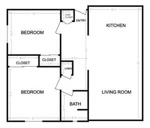 Small Bedroom Floor Plans by Gallery For Gt Small House 2 Bedroom Floor Plans