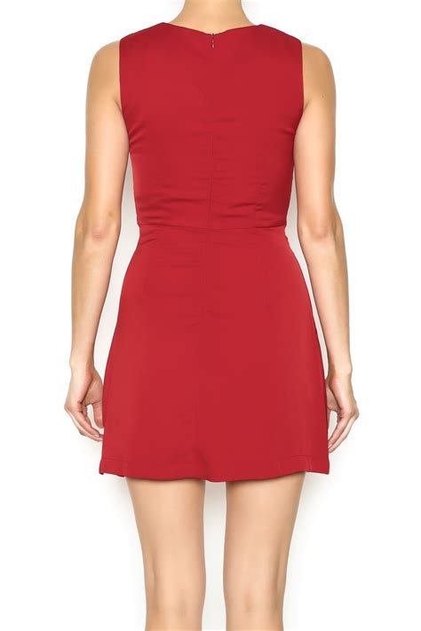 B L F Lace Dress ruby and lace up dress from manhattan shoptiques