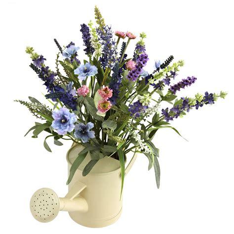 artificial floral arrangements artificial silk lavender fake flower arrangement w