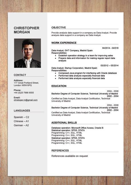 cv resume templates exles doc word
