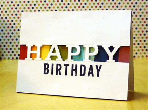 Cutting Dies Happy Birthday Card Patern partial cutting tutorial v 2