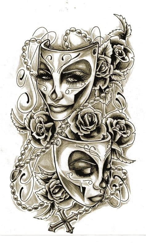 theatre mask tattoo designs drama mask design tattoos beautiful