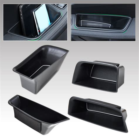 front door storage new car front rear door armrest storage box holder for