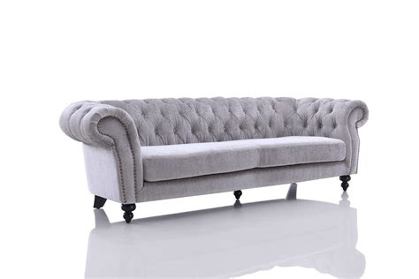 modern gray sofa divani casa alexandrina grey tufted fabric sofa set