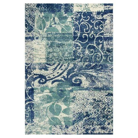 blue green area rugs kas rugs whimsical palette blue green 5 ft x 7 ft area rug alu40625x7 the home depot
