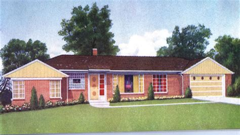 brick ranch house plans 1950s brick ranch style homes 1950 ranch style home colors