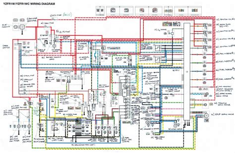 yamaha yzf r1 motorcycle wiring diagram all about wiring