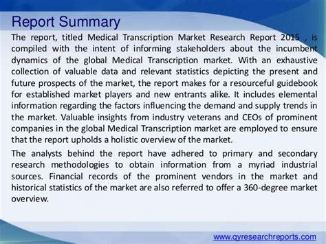 sles of transcription reports global transcription market 2015 industry analysis