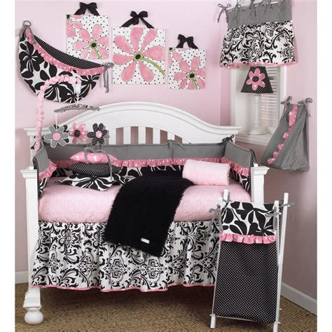 girly crib bedding cotton tale designs girly pink floral 4 piece crib bedding