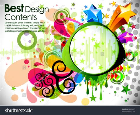 theme music ever decreasing circles music theme star background circles splash stock vector